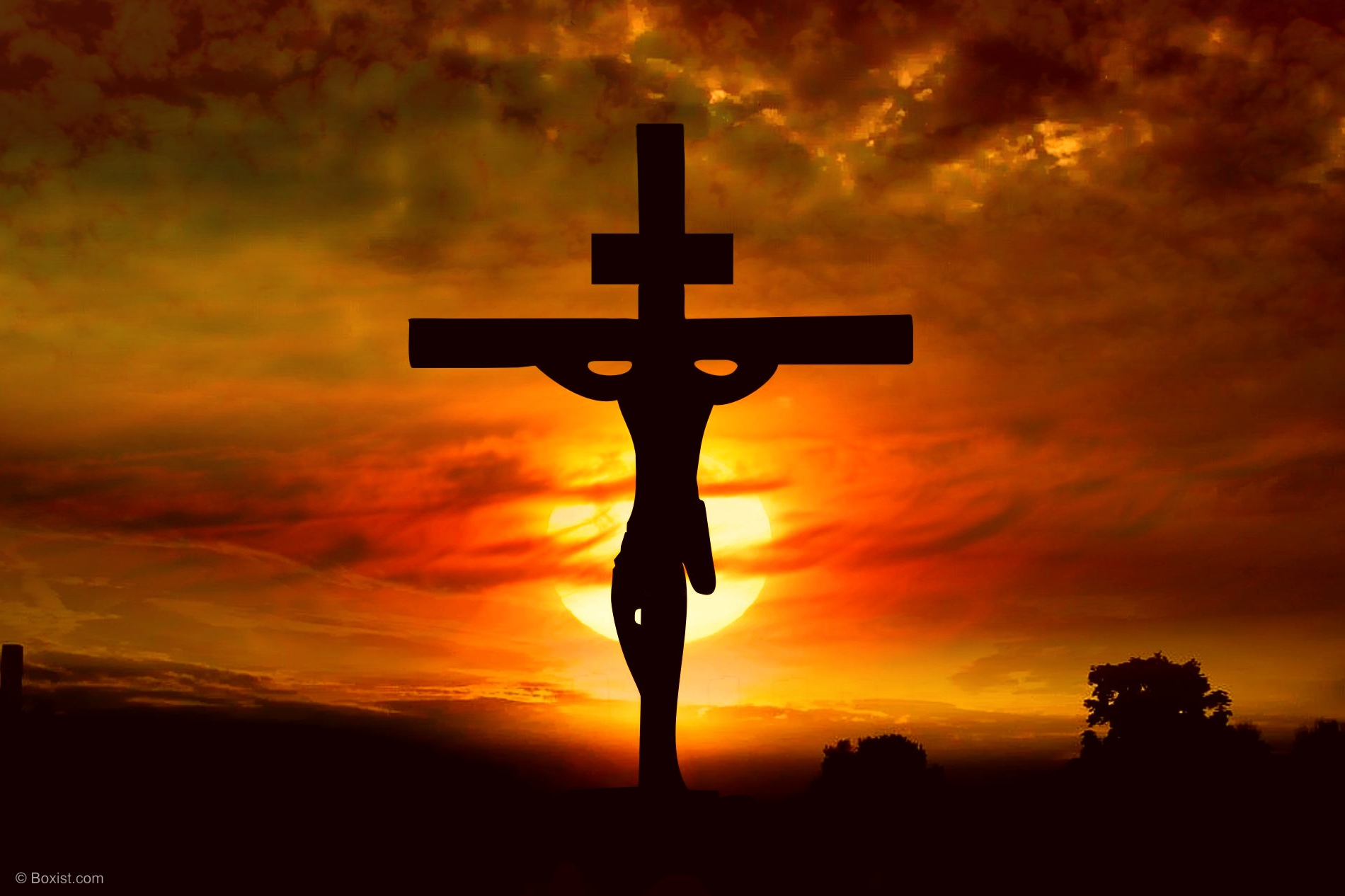 Jesus On The Cross With Sunset Background / Stock Photo - Our Photography  Portfolio